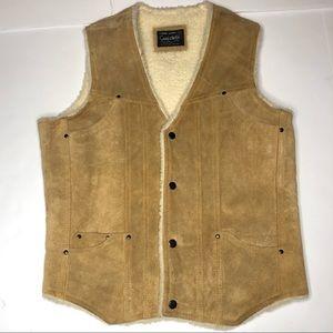 VintageSuede Leather Rancher Vestsherpa lined